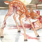 Wishbone-Watercolor-DomyMonsterShow-FawnoftheDead