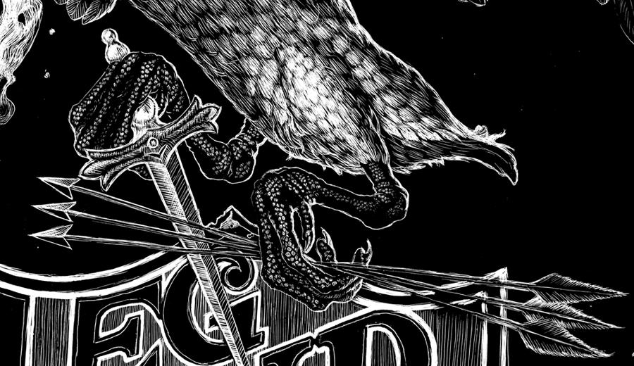 Legendary White Swan, Scratchboard, Abi Daniel, Hoarsefly