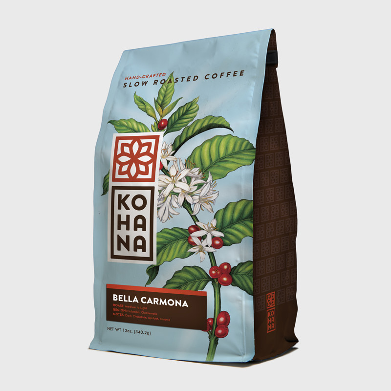 Kohana, Kohana Coffee, Helms Workshop, KohanaCoffee, HelmsWorkshop, Christian Helms, Abi Daniel, AbiDaniel, Hoarsefly, Hoarseflyart, Coffee Illustration, Coffee plant, Botanical Coffee, Coffee Flowers, Botanical Illustration