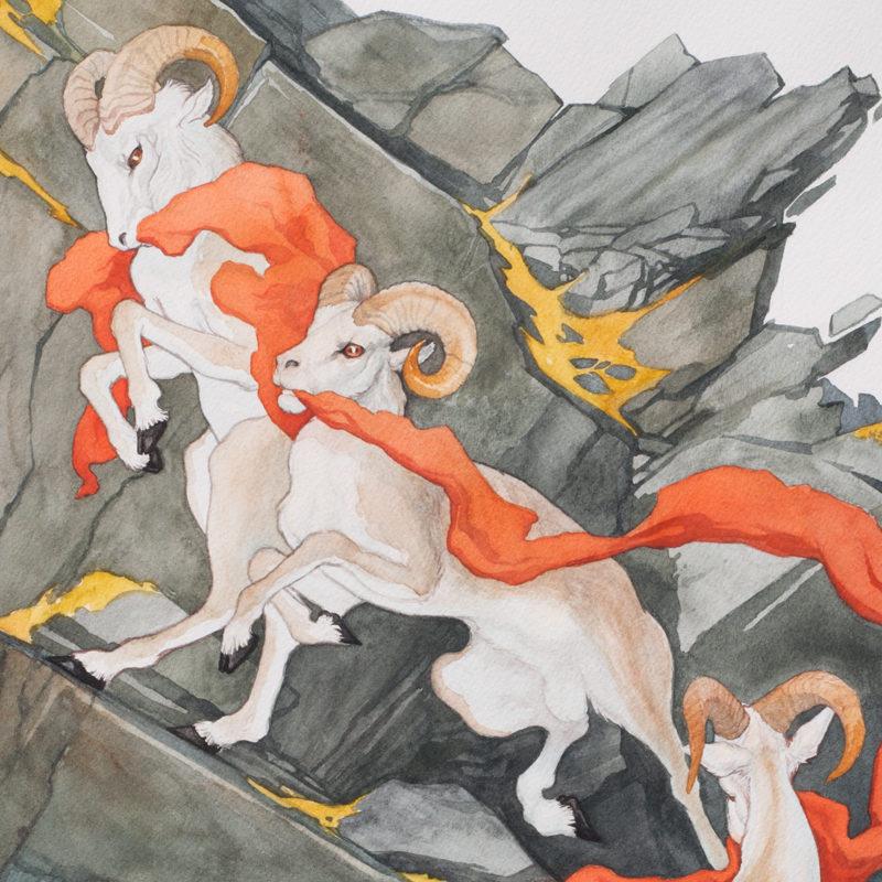 AbiDaniel, Abi Daniel, Hoarsefly, Watercolor, Bannermen