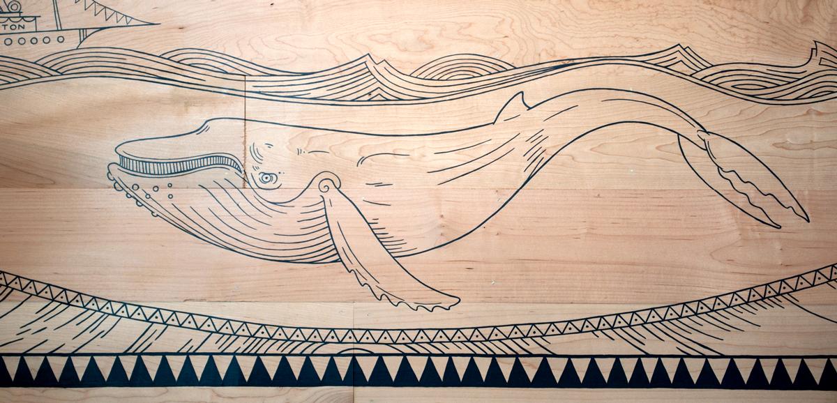 Pinthouse Pizza, PHP, Brewery Illustration, Scrimshaw, Ocean God, Ocean Goddess, Nautical Illustration, AbiDaniel, Abi Daniel, Hoarsefly, Oneshot, Mural